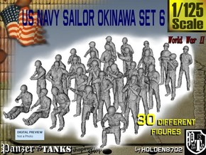 1/125 US Navy Okinawa Set 6 in Smooth Fine Detail Plastic