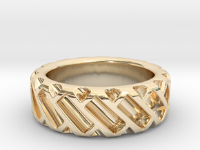 US9 Ring XV: Tritium in 14k Gold Plated Brass