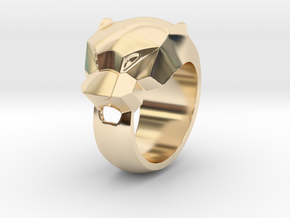 Panther Ring Size 7,2 Hallow in 14K Yellow Gold