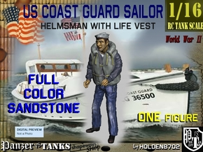 1/16 USCG Full Color Helmsman 2 in Full Color Sandstone