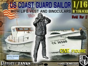 1/16 USCG Binoculars 2 in White Strong & Flexible