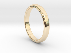 Ring Band Size 6 in 14k Gold Plated Brass