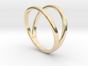 Split Ring Size 12 in 14k Gold Plated Brass