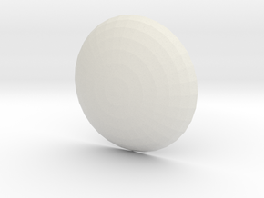 Neopixel Tactile Button - 30mm Smooth in White Natural Versatile Plastic