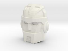 Graduate Boulder Faceplate (Titans Return) in White Natural Versatile Plastic