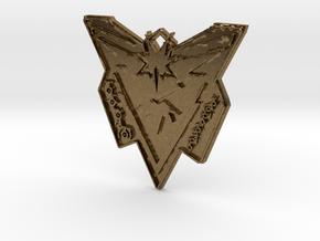 Pokemon Go Team Instinct Badge in Natural Bronze