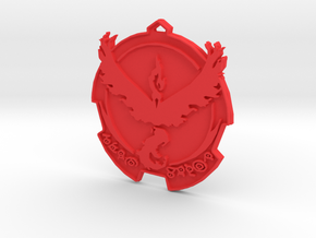 Pokemon Go Team Valor Badge in Red Processed Versatile Plastic