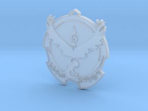 Pokemon Go Team Valor Badge in Smooth Fine Detail Plastic