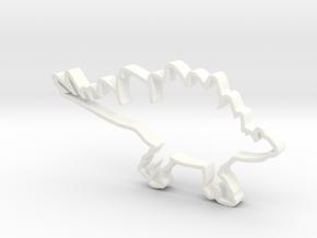 Stegosaurus cookie cutter in White Processed Versatile Plastic