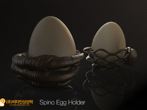 Spino Egg Holder in White Natural Versatile Plastic