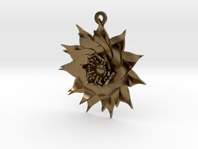Lotus Flower in Natural Bronze