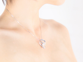 HEAD TO HEAD Unic, Pendant in Polished Silver