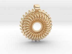 Pendant in 14k Gold Plated Brass