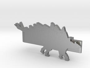 Stegosaurus Tie Clip in Natural Silver
