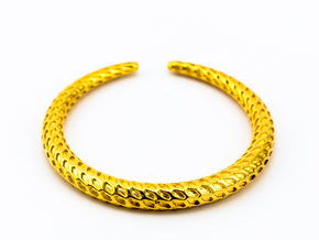 DRAGON Solid, Bracelet. Pure, Strong. in 18k Gold Plated Brass: Extra Small