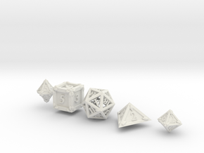 Dice Set Dragonclaws in White Strong & Flexible