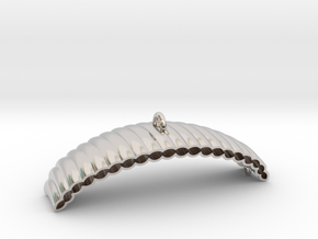 Parachute in Rhodium Plated Brass