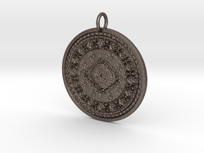 Meechie Pendant in Polished Bronzed Silver Steel