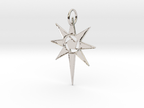 Thareon 'The North Star' in Rhodium Plated Brass