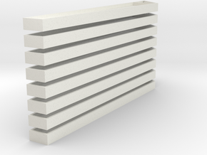 8 Shed Wall Beams in White Natural Versatile Plastic