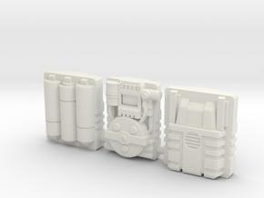 Titan Master Techpacks in White Natural Versatile Plastic