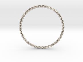 STU Light Ring in Rhodium Plated Brass