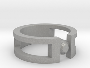Stone ring in Aluminum