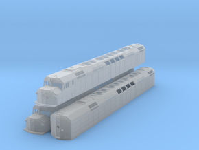 N Scale F40DDPH w/Waffle Side Panels (3 Pack) in Frosted Ultra Detail