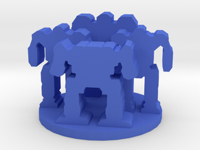Game Piece, Mech Unit in Blue Strong & Flexible Polished