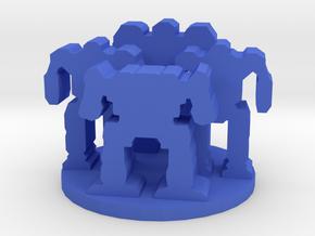 Game Piece, Mech Unit in Blue Processed Versatile Plastic