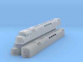 N Scale F40DDPH w/Louvered Side Panels in Frosted Ultra Detail