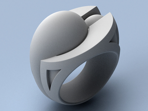 Sanctuary - Size 12 (21.49 mm) in Polished Silver