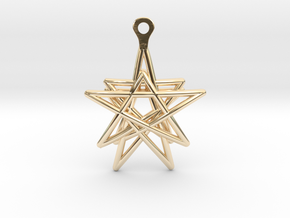 3D Printed Star in the Universe Earrings by bondsw in 14k Gold Plated Brass