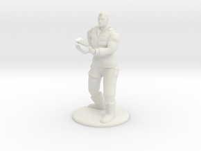 Soldier With Staff - 20 mm in White Strong & Flexible