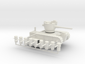 15mm AQMF MERRIMACK HEAVY TANK in White Natural Versatile Plastic