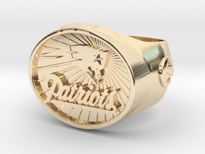 Patriots Ring size 12 in 14k Gold Plated Brass