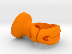 25.4 mm Garmin Varia/Edge Mount in Orange Processed Versatile Plastic