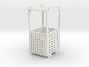 Crane Man Cage 1-87 HO Scale in White Natural Versatile Plastic