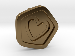 3D Printed Bond What You Love Stud Earrings in Polished Bronze