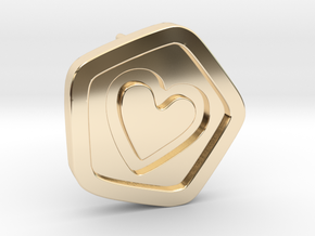 3D Printed Bond What You Love Stud Earrings in 14k Gold Plated Brass