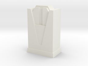 Custom Monopoly Hotel Version 4 (3cm tall) in White Strong & Flexible