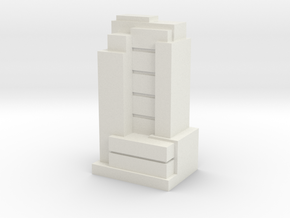 Custom Monopoly Hotel Version 8 (3cm tall) in White Strong & Flexible