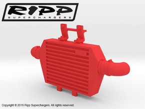 RS10001 Ripp Intercooler JK - RED in Red Processed Versatile Plastic