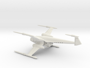Delcon X spaceship - Concept Design Quest in White Natural Versatile Plastic