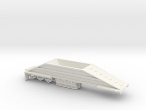 000402 3a Bottom Dump Trailer HO in White Natural Versatile Plastic