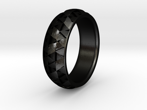 Hexmo Ring in Matte Black Steel