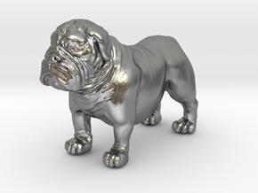 Bull Dog mini size (color) in Natural Silver