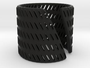 Tracks (size S) in Black Natural Versatile Plastic