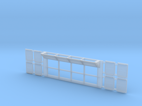 Set-1 Sci-Fi Utility Wall w/ Grates-1/72 in Frosted Ultra Detail