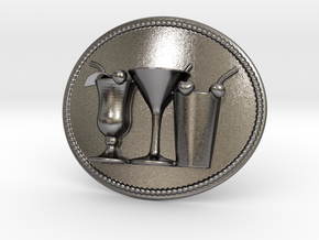 Cocktail Party Belt Buckle in Polished Nickel Steel